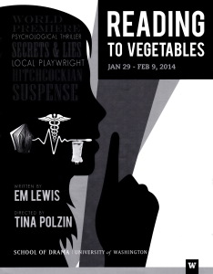 """Reading to Vegetables"" at University of Washington - poster."