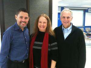 With Hostos College teacher and director Angel Morales and book of the semester project coordinator Robert Cohen.