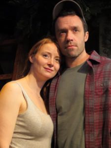 Kersti Bryan and Christopher Smith in the world premiere of Apple Season by E. M. Lewis at New Jersey Repertory Theater.